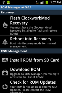 Rom manager screenshot1
